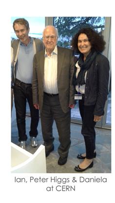 Ian, Peter Higgs & Daniela at CERN
