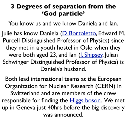 3 Degrees of separation from the 'God particle'