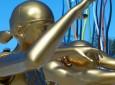 large gold lifesaver sculptures, gold coast lifesavers