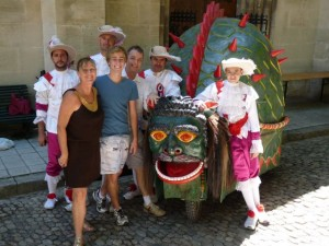 With the Tarasque at the Abbaye