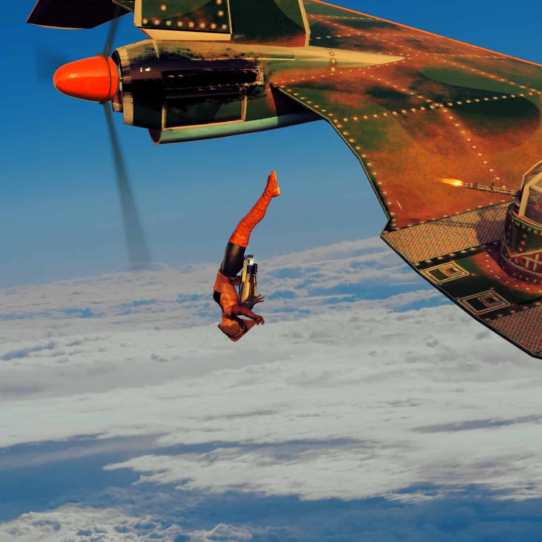RR flying wing freefall sky 1 - 3D Artwork