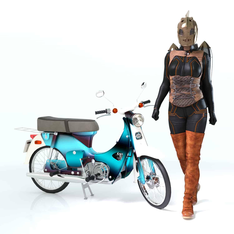 RR moped 1 - 3D Artwork